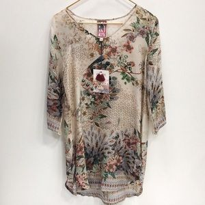 NWT Johnny Was Fischer Blouse XS